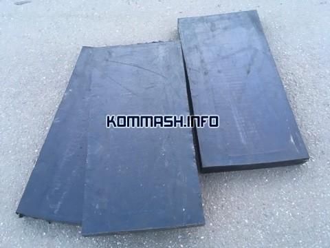 Техпластина 500-250-40 | Лемех | Резиновый нож для уборки снега на коммунальный отвал